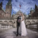 Bryllupsbilleder i Hillerød foran Frederiksborg Slot